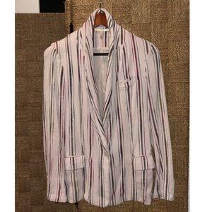Maje striped cotton blazer